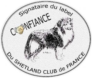 badge label du Shetland club de France
